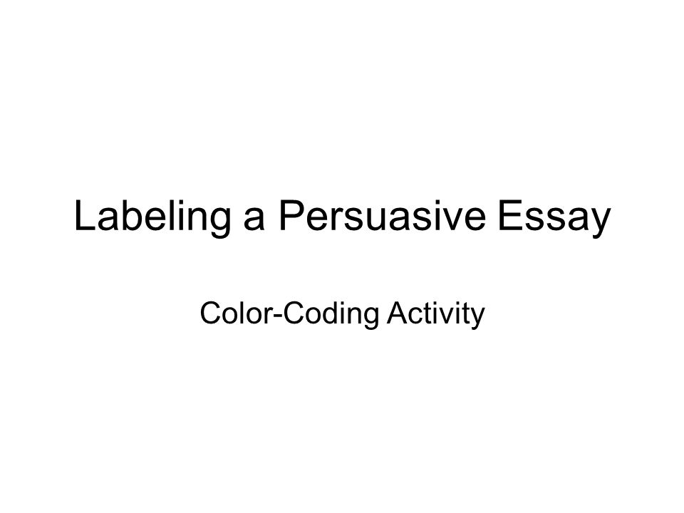 labelling essay