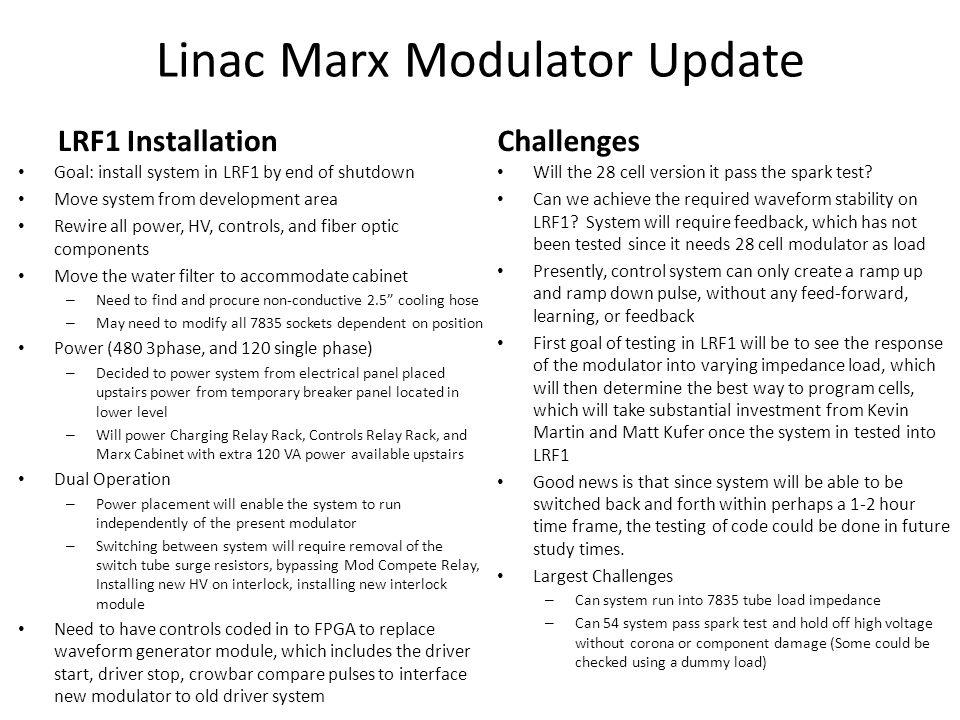 Linac Marx Modulator Update Trevor Butler 7/22/ ppt download