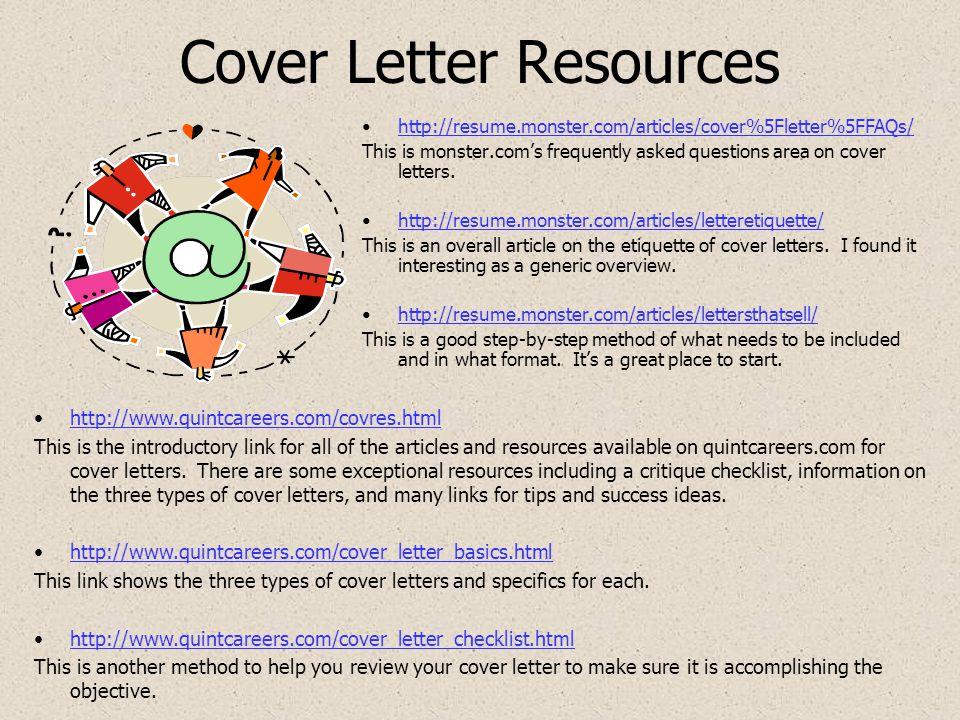Doc Monstercom Cover Letter Cover Letter Center - Monster cover letter