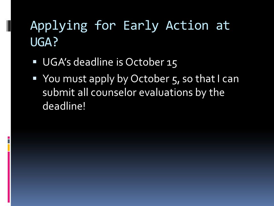 Applying for Early Action at UGA.