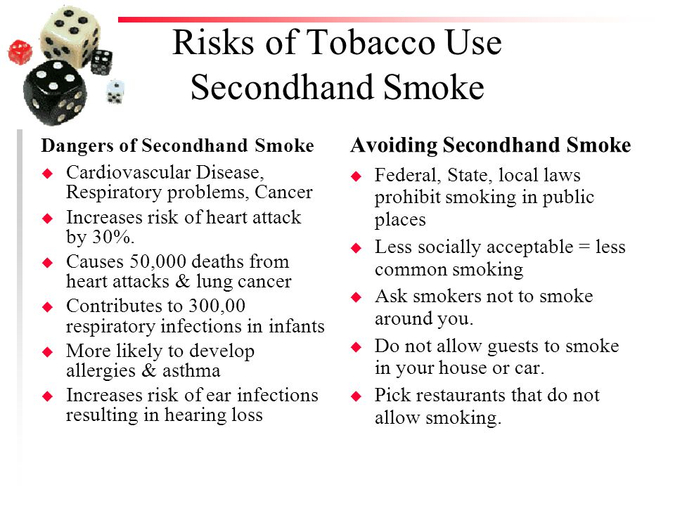 the risk of cancer from second hand smoke essay Secondhand smoke exposure and risk following the irish skeer m exposure to second hand smoke and excess lung cancer mortality risk among workers in the.