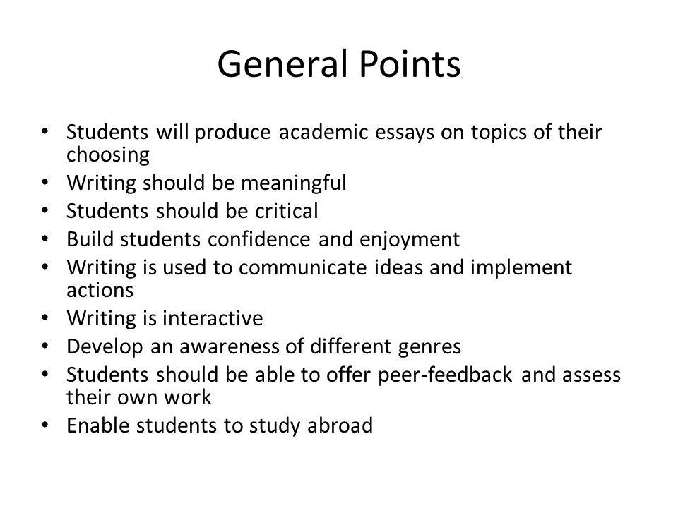 english essays on general topics
