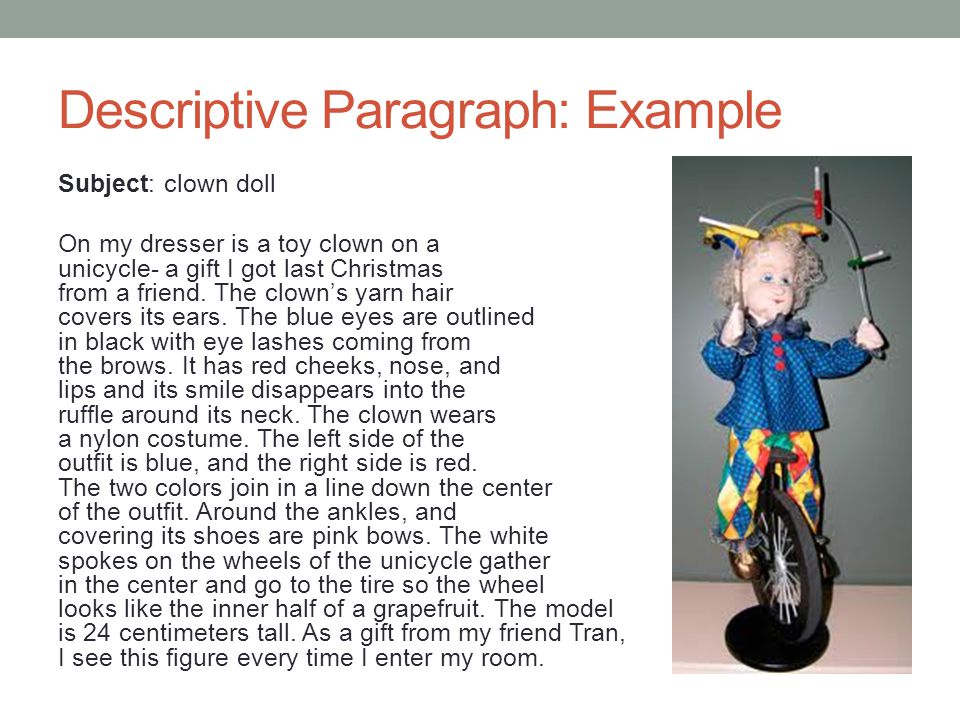 academic writing i class today descriptive writing  7 descriptive