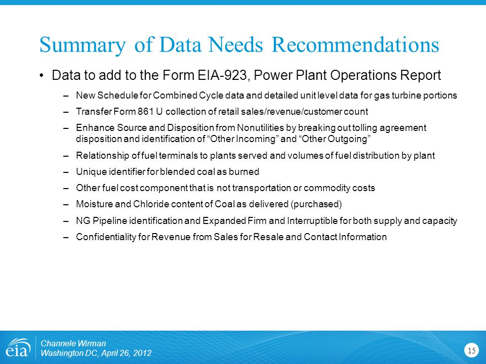 Us energy information administration independent statistics 15 summary platinumwayz