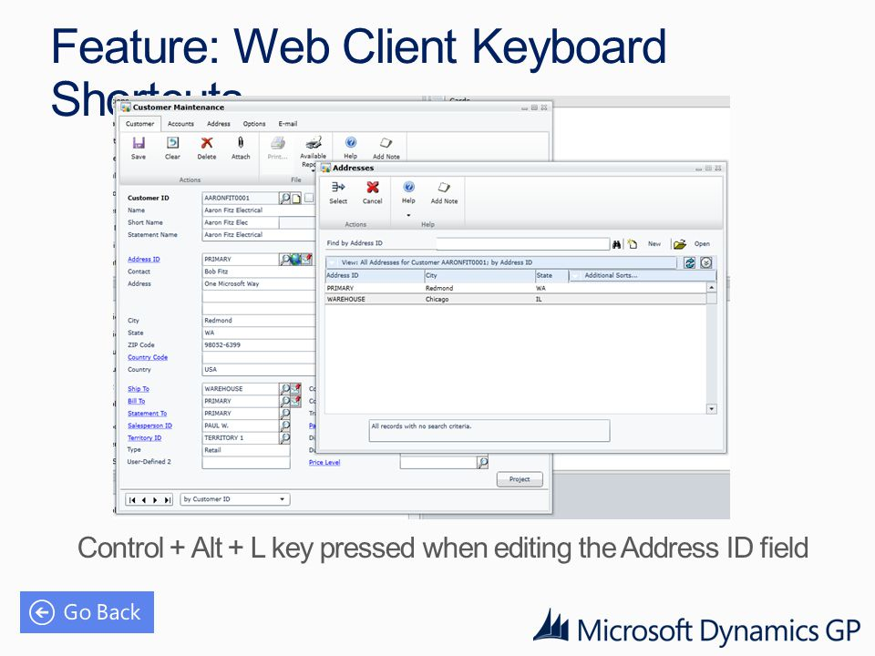 Feature: Web Client Keyboard Shortcuts