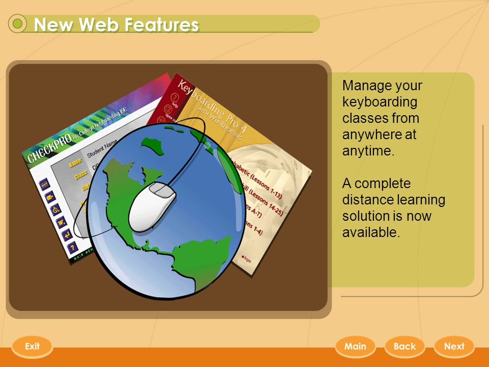 Web Features 4 Manage your keyboarding classes from anywhere at anytime.