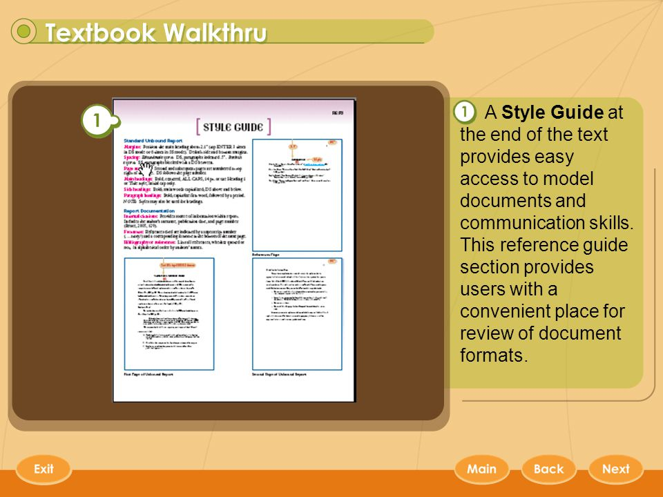 Keyboarding Textbooks 9 A Style Guide at the end of the text provides easy access to model documents and communication skills.