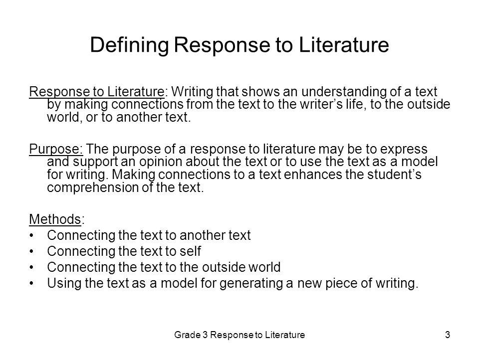 Response to Literature Essay?