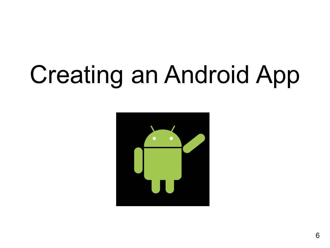 Creating an Android App 6