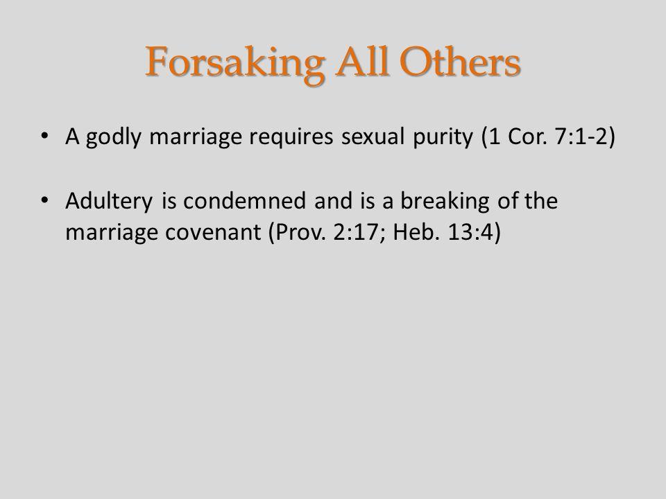 21 Forsaking ...