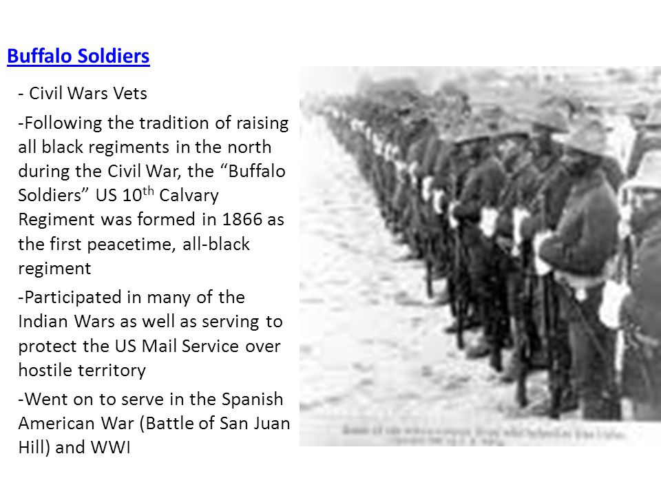 How to write a thesis statement on a research paper of the buffalo soldiers?