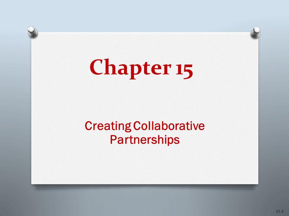 Chapter 15 Creating Collaborative Partnerships 15-3