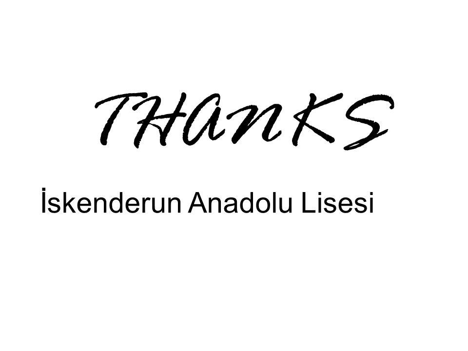 THANKS İskenderun Anadolu Lisesi