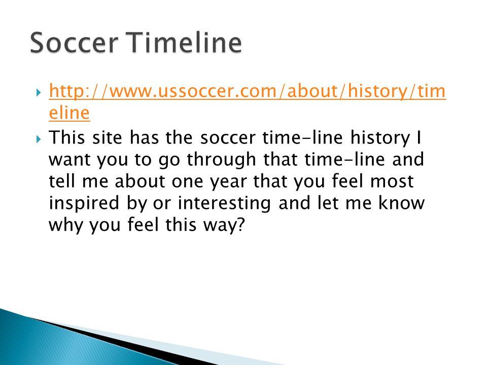 history of soccer timeline
