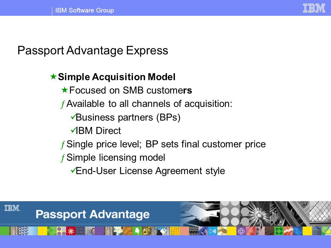 Ibm software group 2004 ibm corporation passport advantage and 4 ibm software group passport advantage express platinumwayz