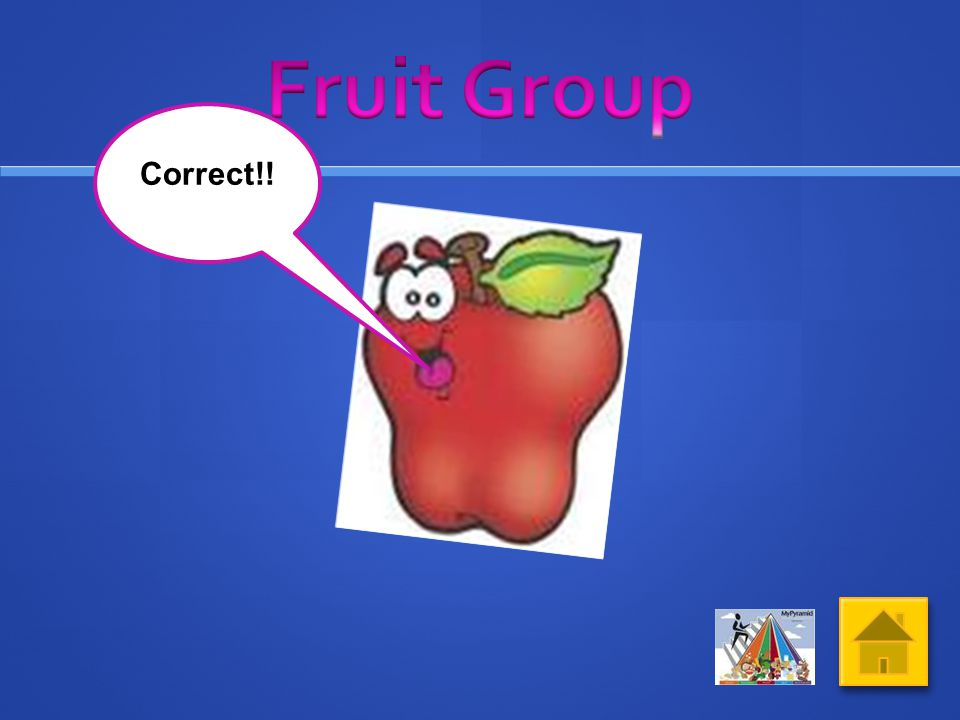 Click on the picture of food from the Fruit Group What do you think