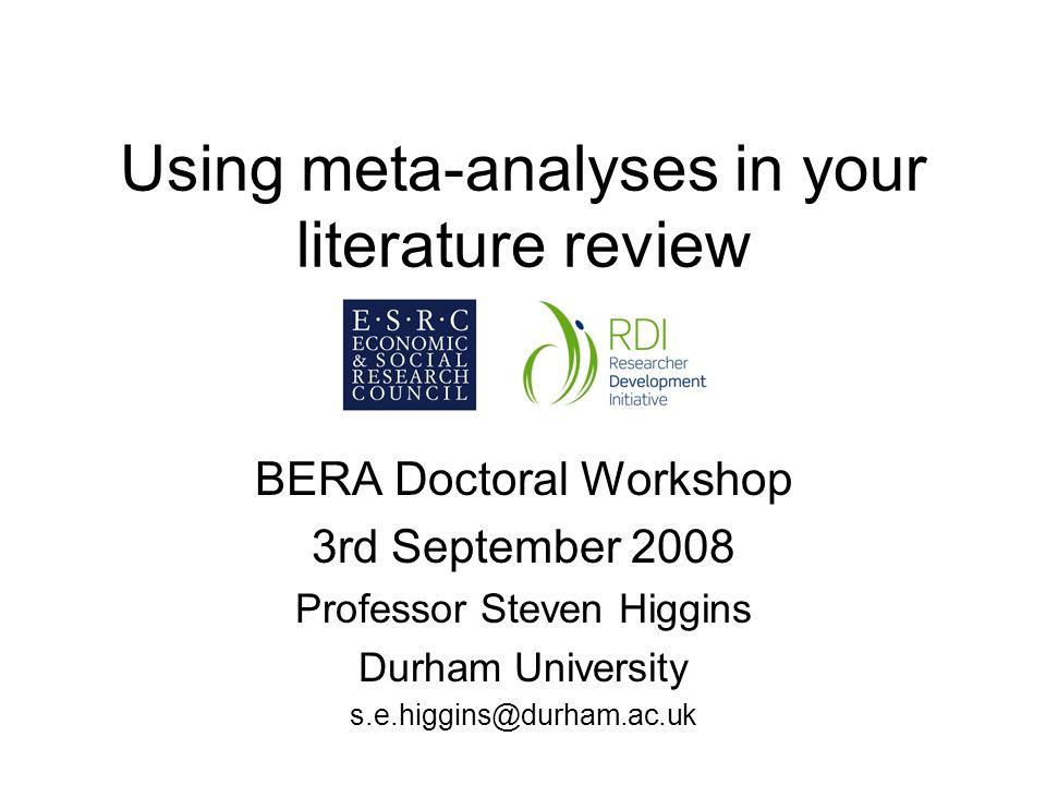 Meta Analysis Dissertation