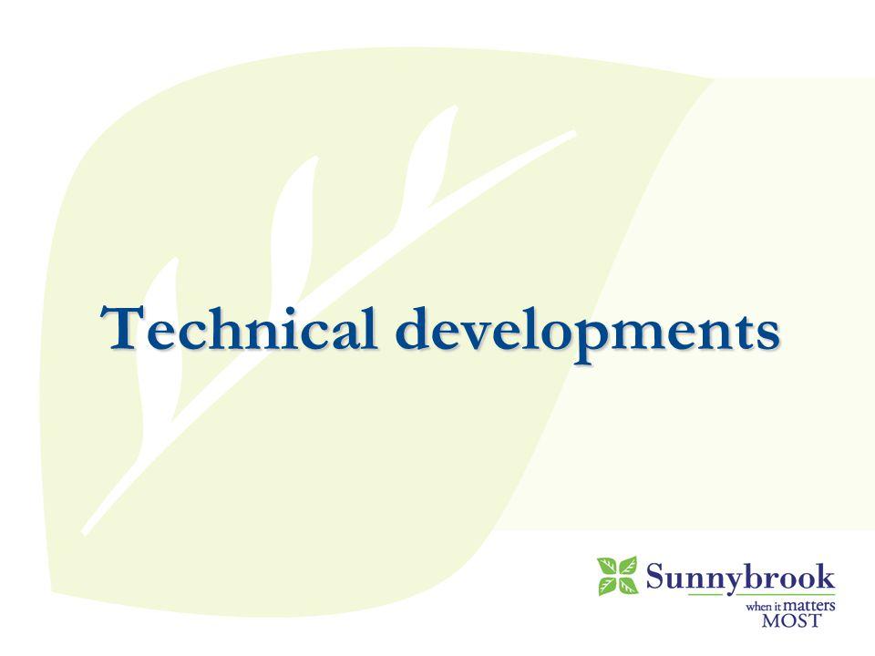 Technical developments