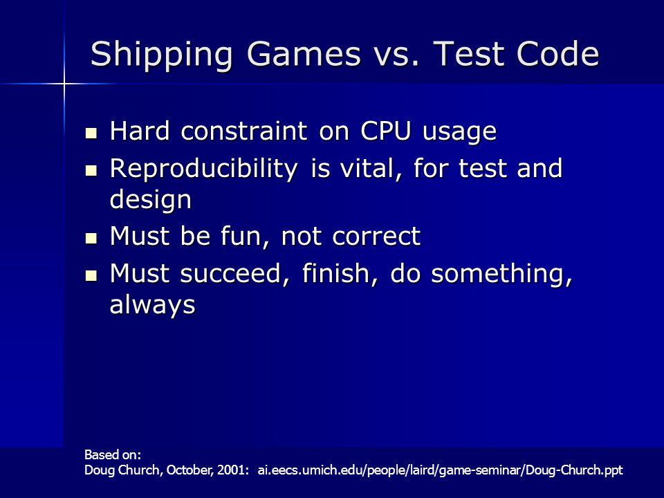 Shipping Games vs.