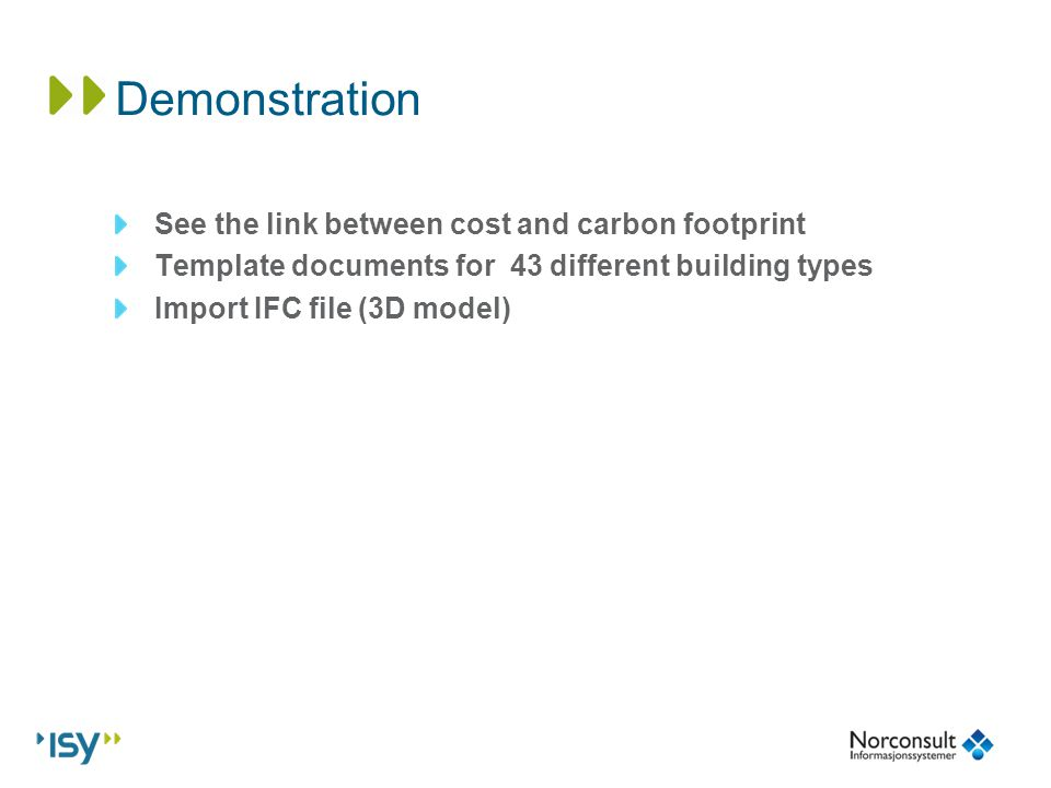 Jostein solberg norconsult informasjonssystemer breeam nor carbon 9 demonstration see the link between cost and carbon footprint template documents for 43 different building types import ifc file 3d model pronofoot35fo Images