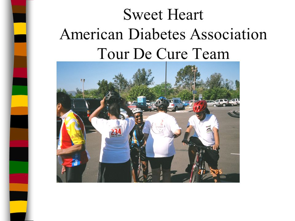 Sweet Heart American Diabetes Association Tour De Cure Team