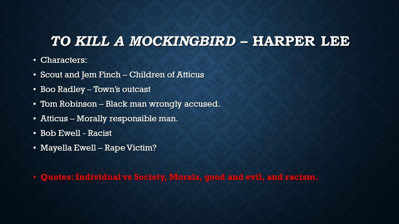 Rape Quotes Regents Reviewto Kill A Mockingbird  Harper Lee Characters