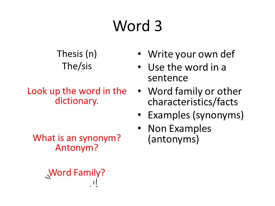 synonym for the word thesis