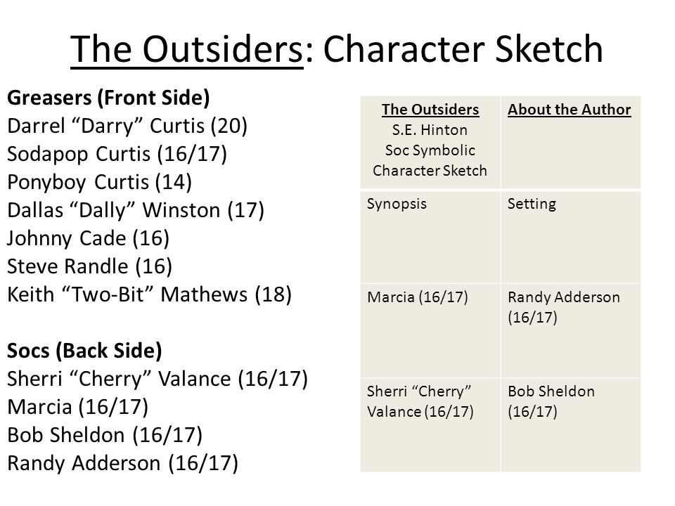 character sketch dallas winston the outsiders