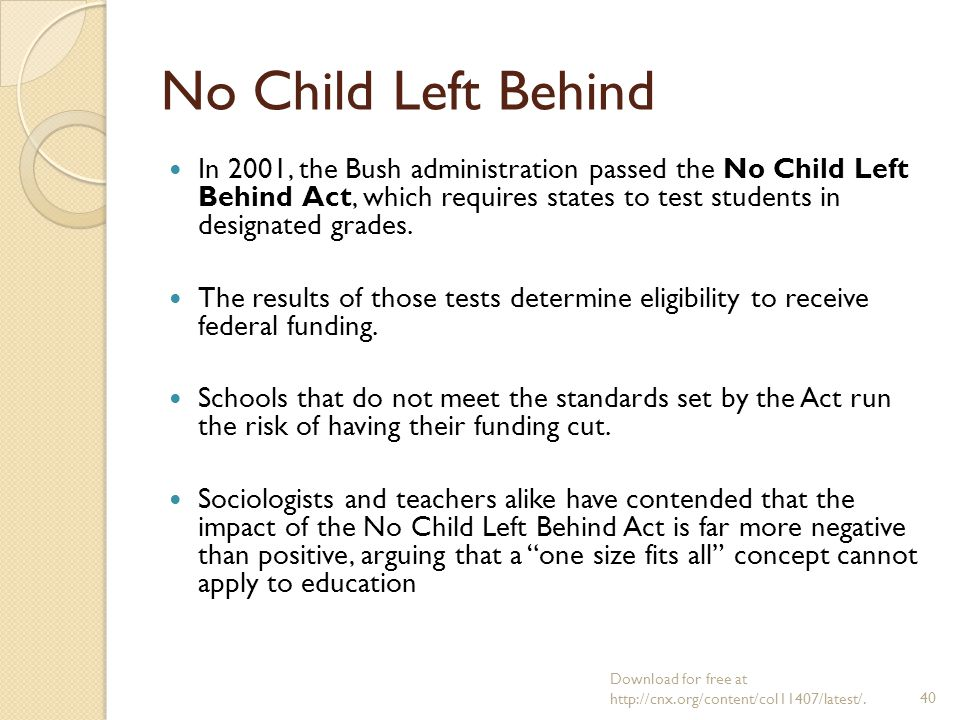 no child left behind act research paper