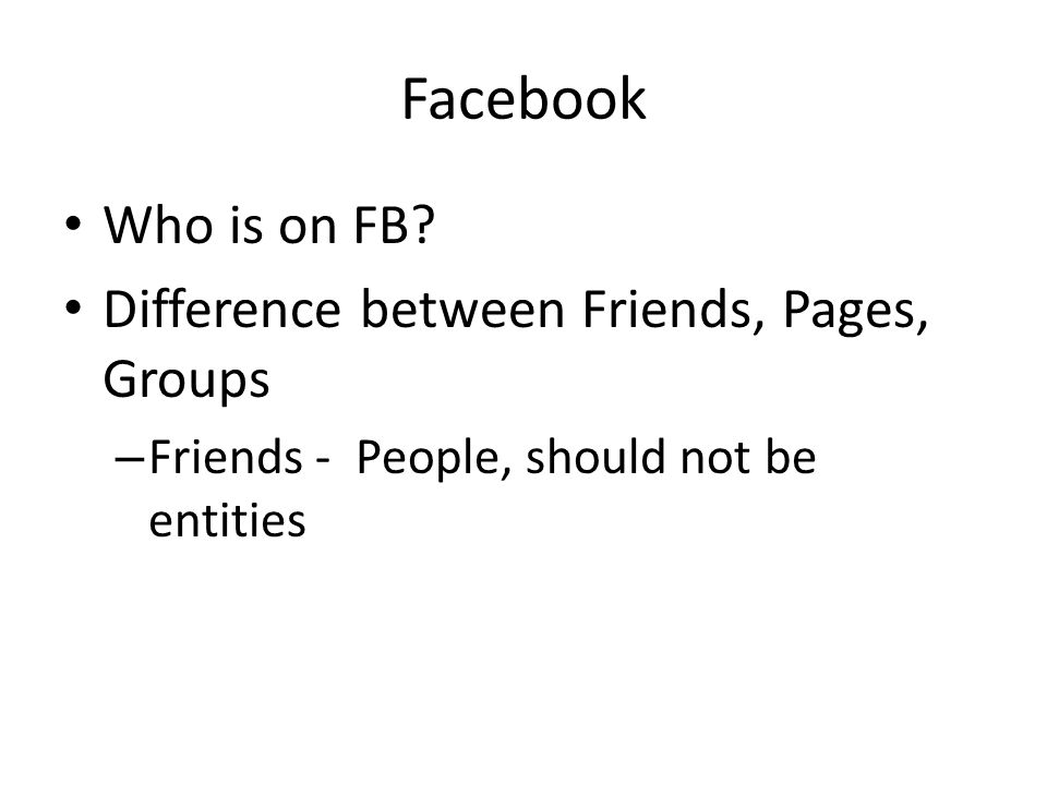 Facebook Who is on FB.