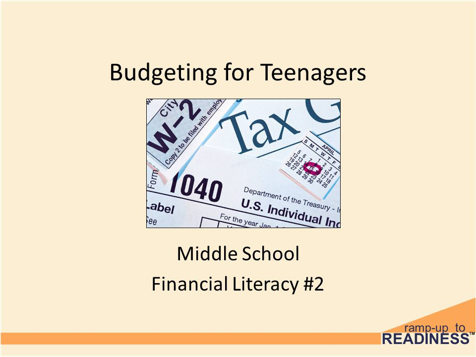 Budgeting for Teenagers Middle School Financial Literacy #2