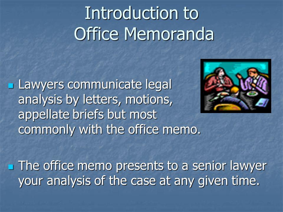 thesis memorandum