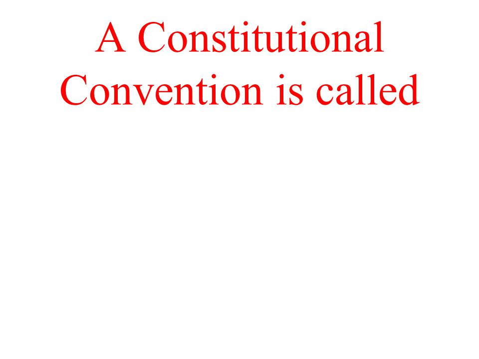 A Constitutional Convention is called
