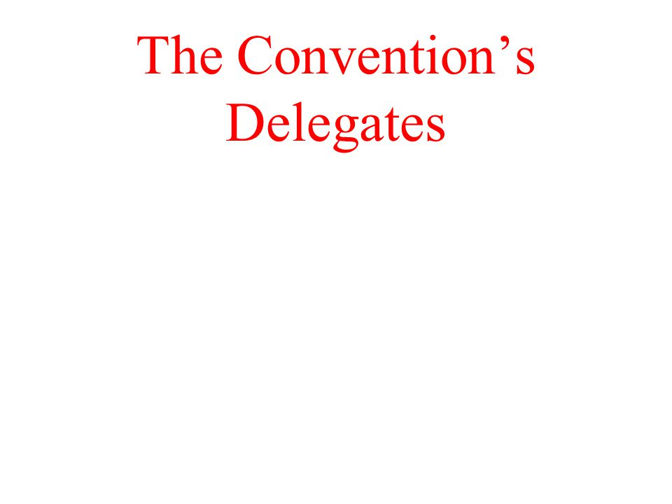 The Convention's Delegates