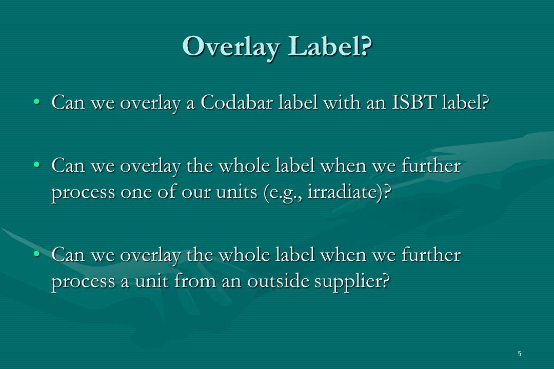 5 Overlay Label.