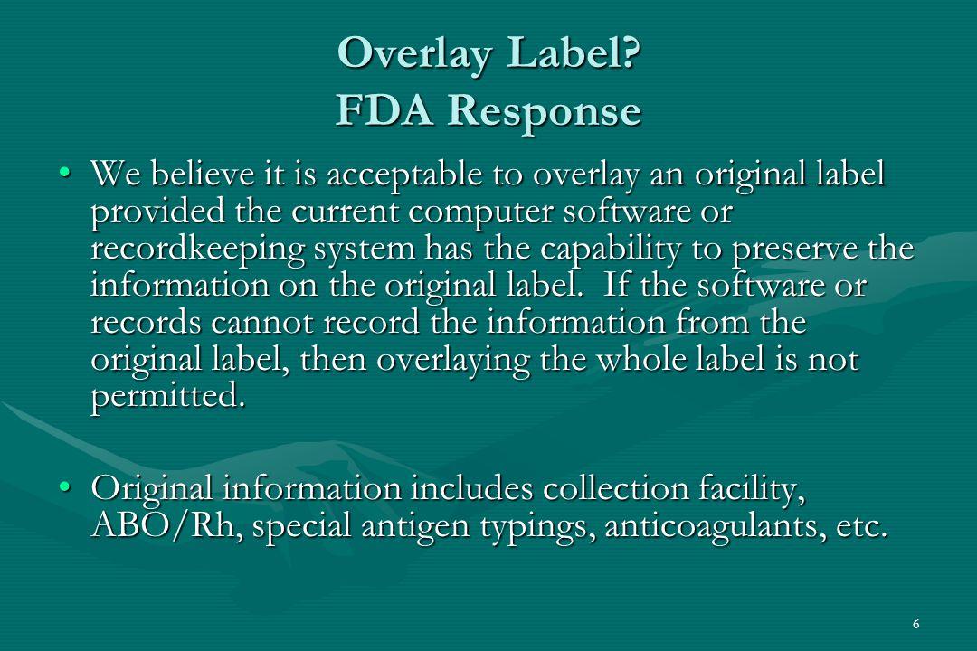 6 Overlay Label.