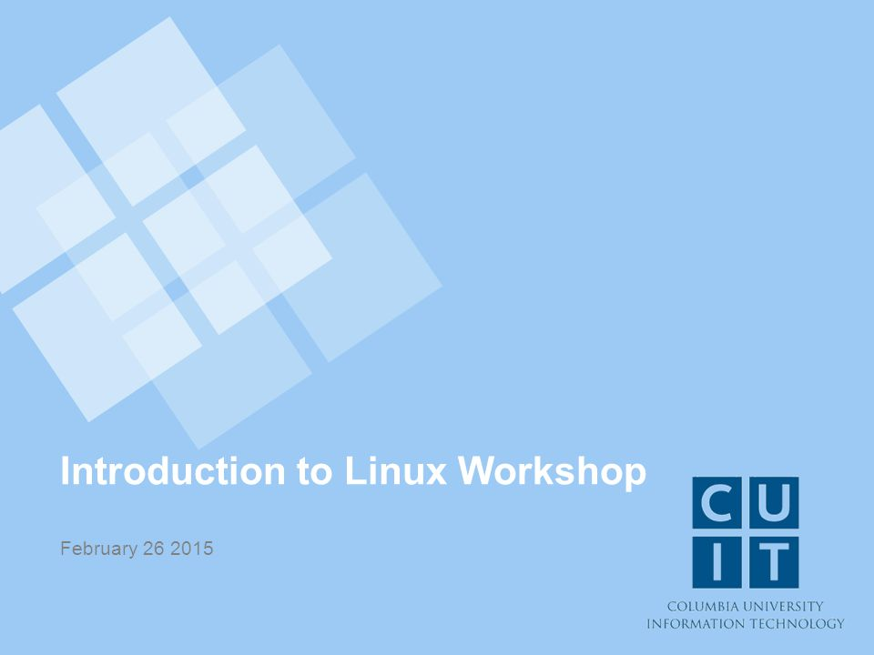 Introduction to Linux Workshop February