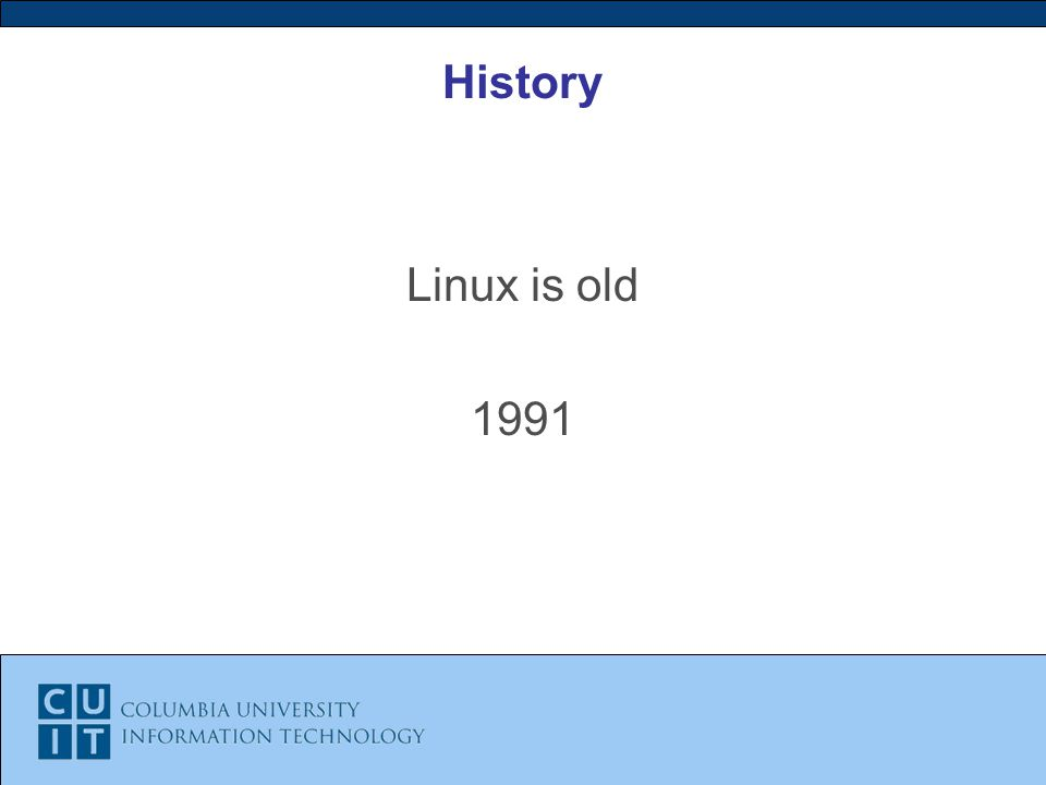 History Linux is old 1991