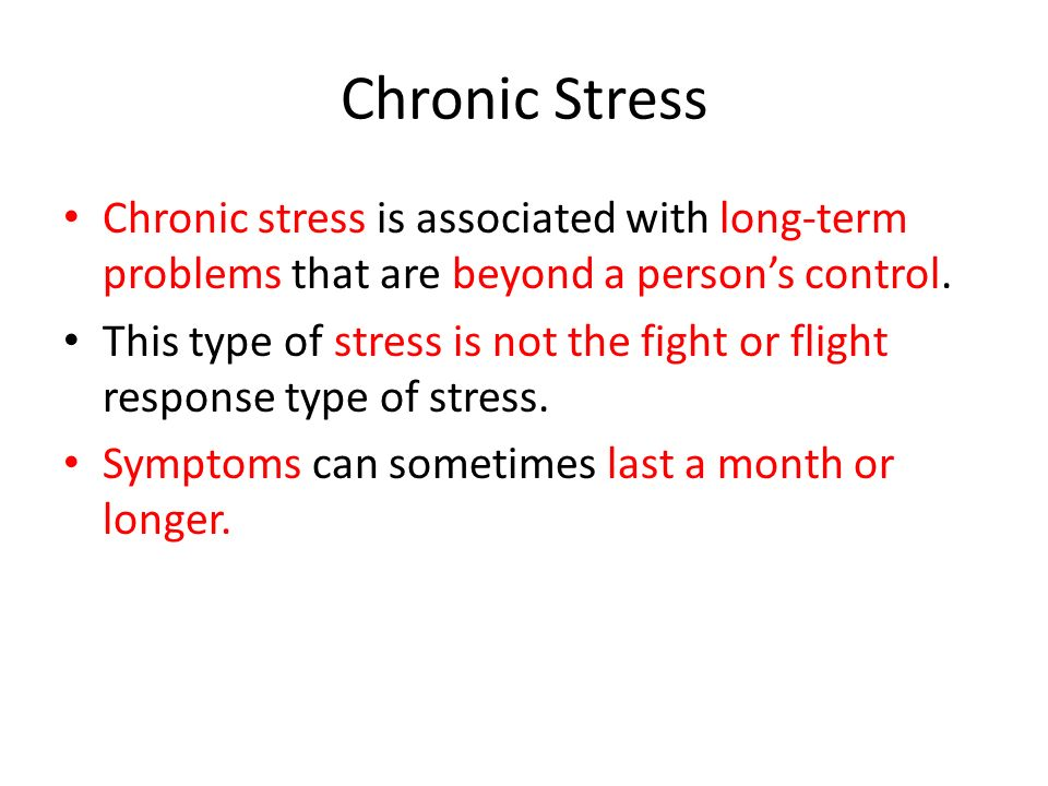Five Categories of Stress Biological stressors – illnesses, disability, injury Environmental stressors– poverty, pollution, crowding, noise, or natural disasters Cognitive (thinking stressors) – such as the way you perceive a situation or how it affects you and the world around you.