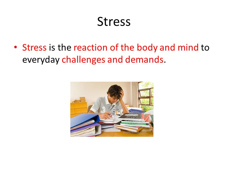 Vocabulary Stress Perception Stressor Psychosomatic response Chronic Stress