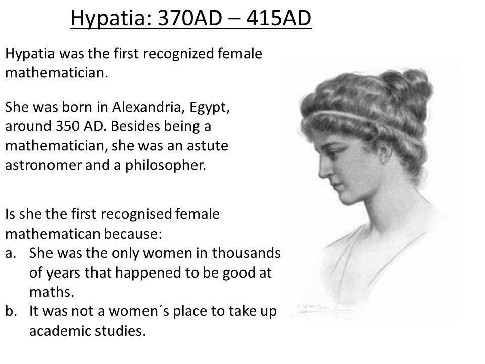 Hypatia Mathematician