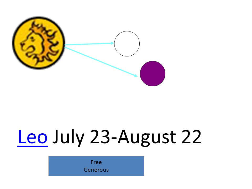 LeoLeo July 23-August 22 Free Generous