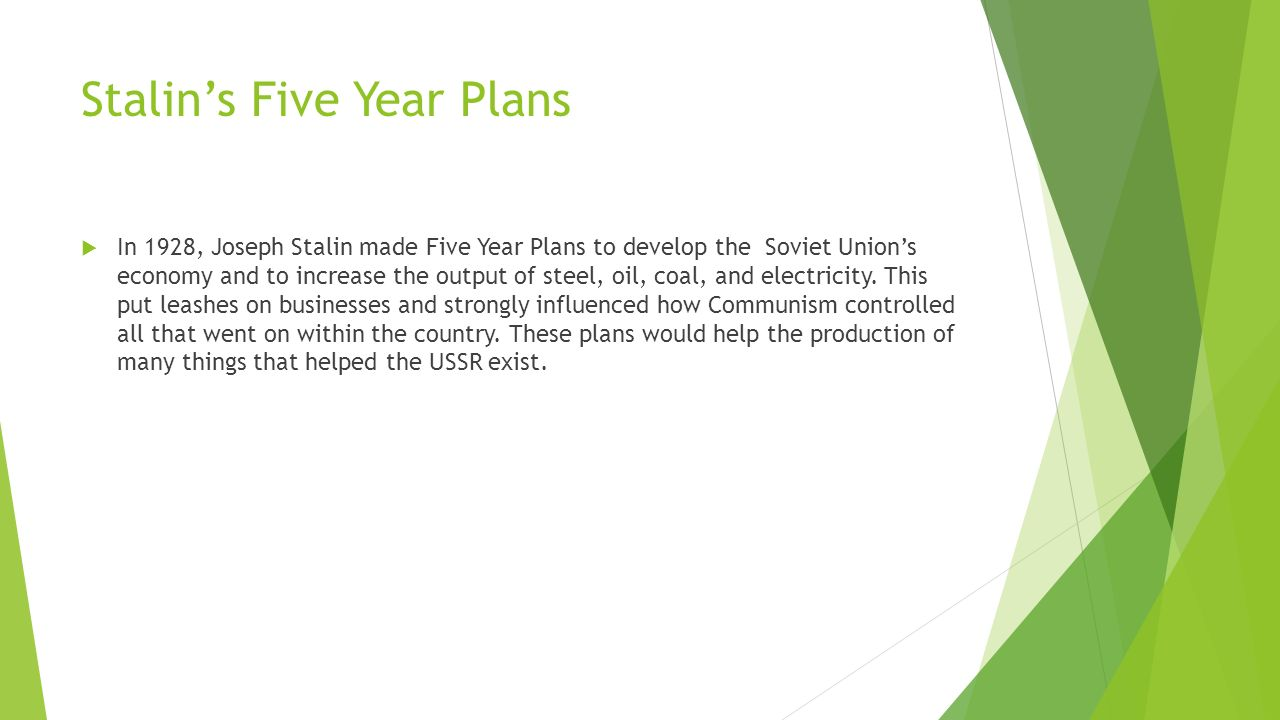 what impact did stalins first five year plan have on the economy and people of the soviet union essa