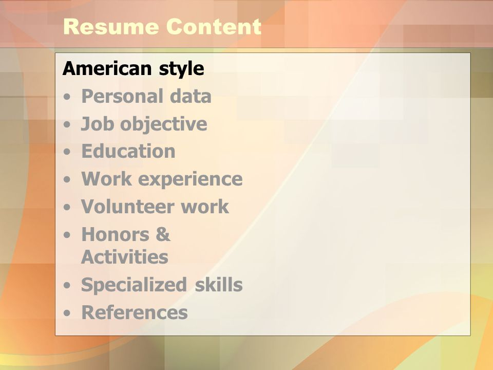 american style resume brought to you by international students