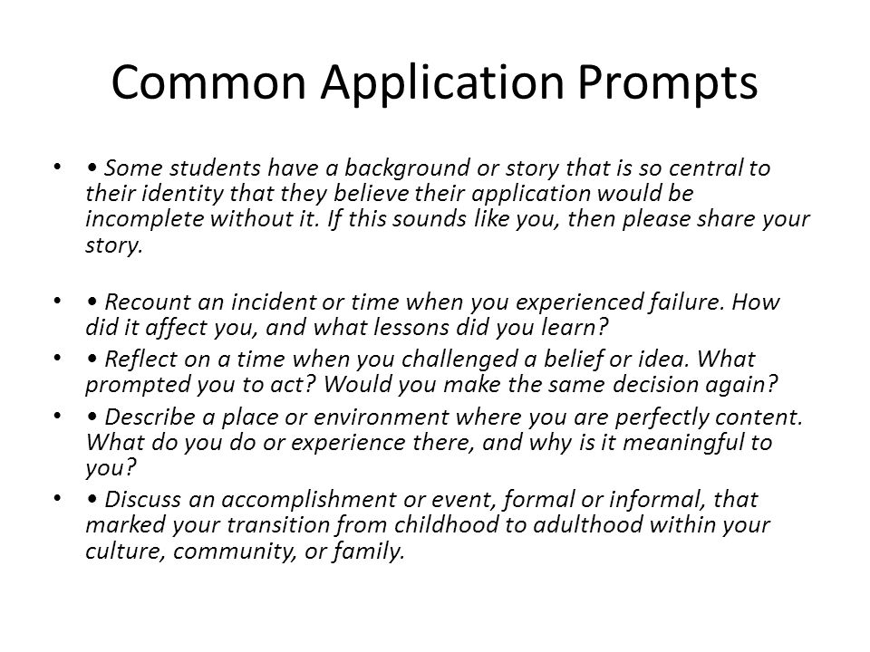 What are some good Common App essay ideas?