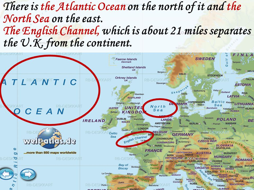 Great Britain is an island that lies off the north west of Europe.