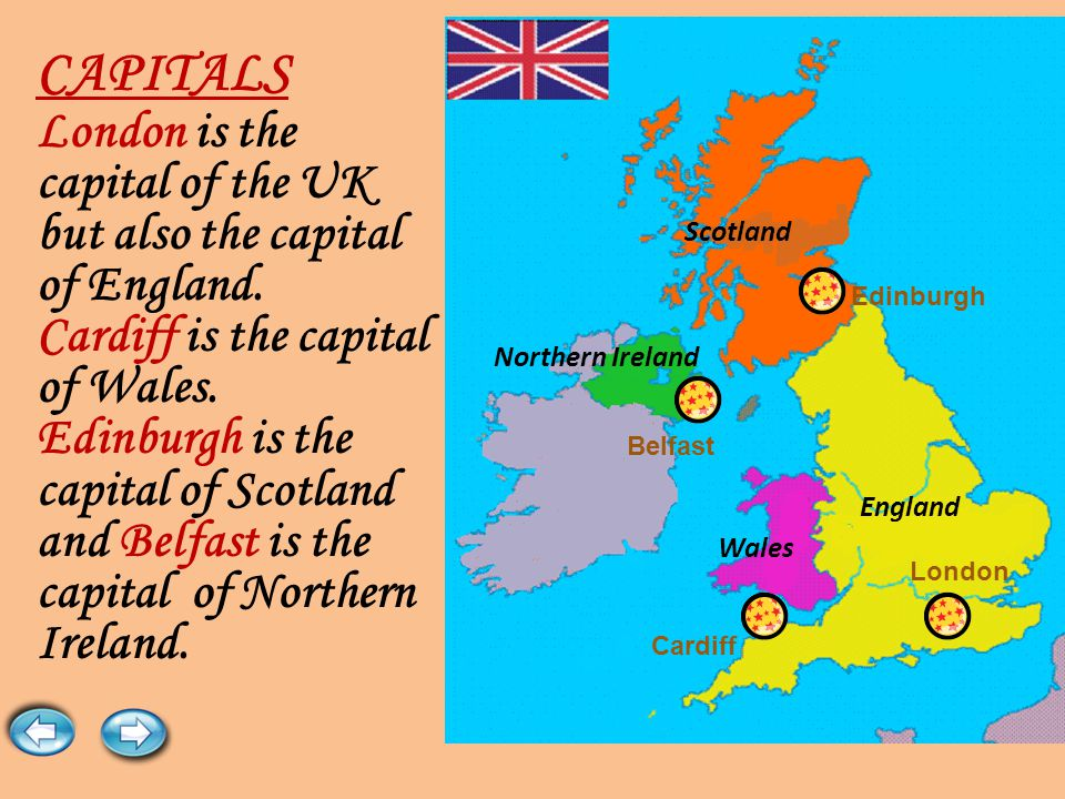 There are four countries in the United Kingdom: England, Scotland, Wales and Northern Ireland.