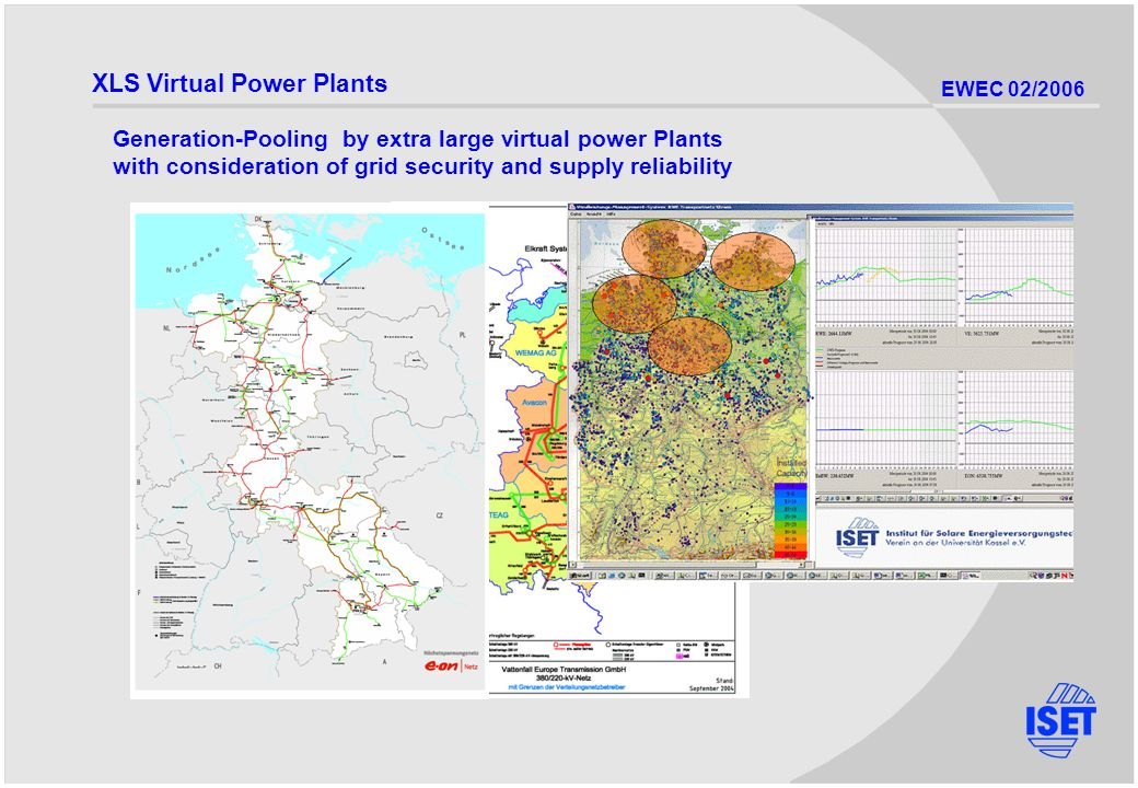 EWEC 02/2006 XLS Virtual Power Plants Generation-Pooling by extra large virtual power Plants with consideration of grid security and supply reliability
