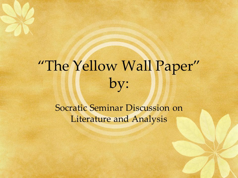 The Yellow Wallpaper Essay Topics