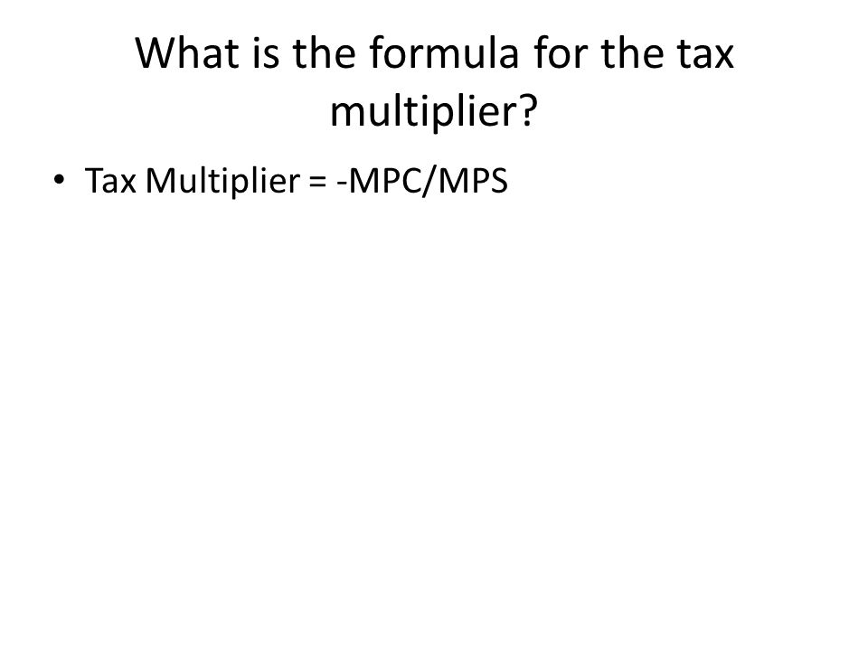 Macro Midterm Review. What are the formulas for the spending ...